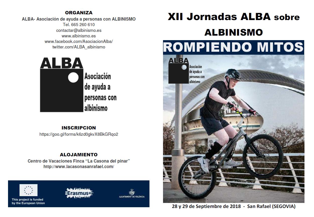 Programación XII Jornadas ALBA sobre Albinismo