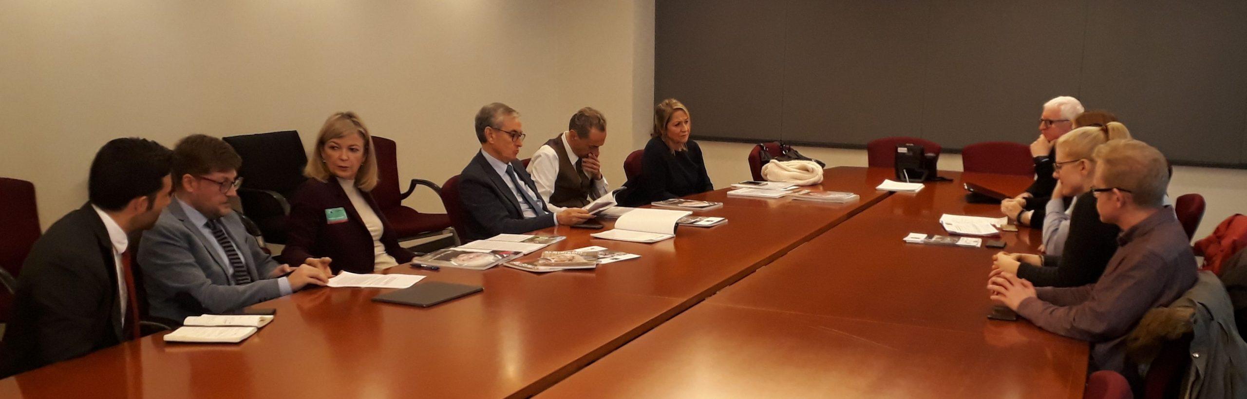 Foto durante la reunión en el Parlamento Europeo