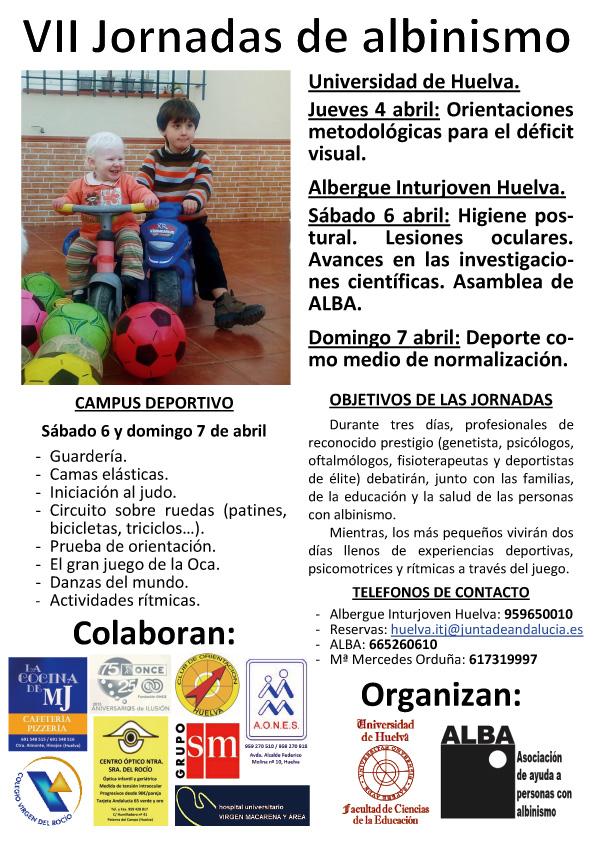 Cartel VII jornada ALBA AlbinismoYDeporte